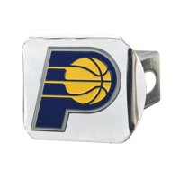 "Indiana Pacers Color Hitch Chrome 3.4""x4"""