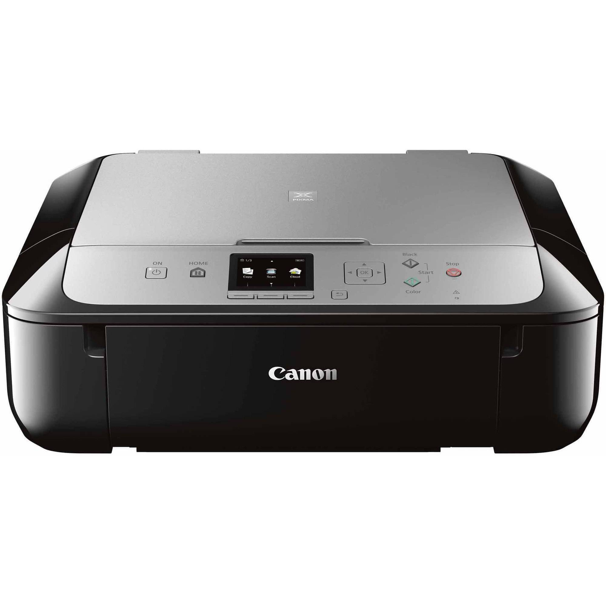 Canon PIXMA MG5721 Wireless Inkjet All-in-One Printer/Copier/Scanner, Black/Silver