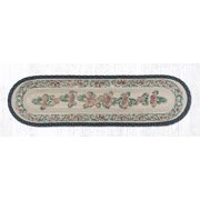 "Earth Rugs 025A Pinecone Oval Patch Runner 13"" x 48"""