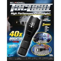 Bell + Howell TacLight, LED Flashlight with 5 Modes, As Seen on TV