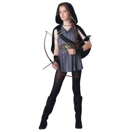 Girls Hooded Huntress Costume (Robin Hood Costume Girl)