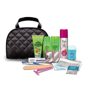 "Convenience Kits International ""Woman On the Go"" Premium 14-piece Travel Necessities Featuring: Garnier Fructis Products"