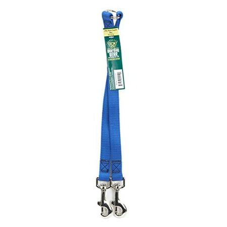 Guardian Gear Nylon 2-Way Medium Dog Coupler with Nickel Plated Swivel Clip, 12-Inch, Blue