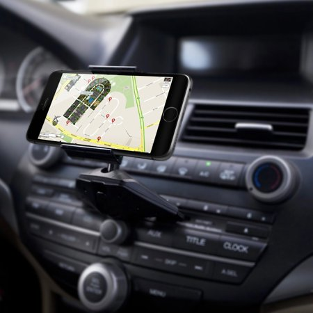 IPOW CD Slot Car Phone Mount Mobile Phone Holder Cradle Universal for GPS, iPhone, Samsung, HTC, LG