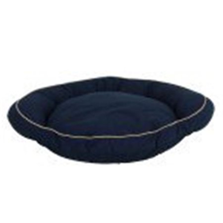 Carolina Pet 019450 F Classic Canvas Orthopedic Foam Bolster Bed with Contrast Cording - Blue with Khaki Cord, Medium - image 1 of 1