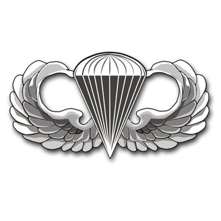 Army Jump Wings (US Army Jump Wings Decal Sticker 3.8