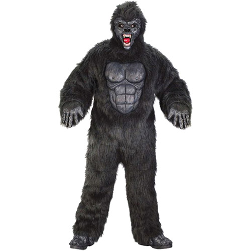 Gorilla Suit Adult Halloween Costume, One Size 48-52