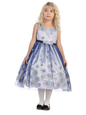 f59c9fda6 Product Image Angels Garment Girls Royal Blue Brooch Snowflake Dress 7