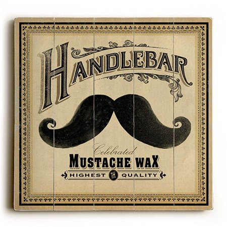 Artist With Mustache (ArteHouse Decorative Wood Sign
