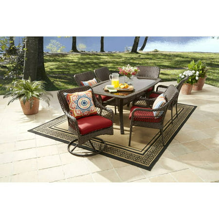 Better Homes And Gardens Colebrook 7 Piece Dining Set Red: 7 better homes and gardens