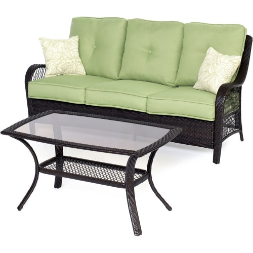 Hanover Orleans 2-Piece Outdoor Lounging Set