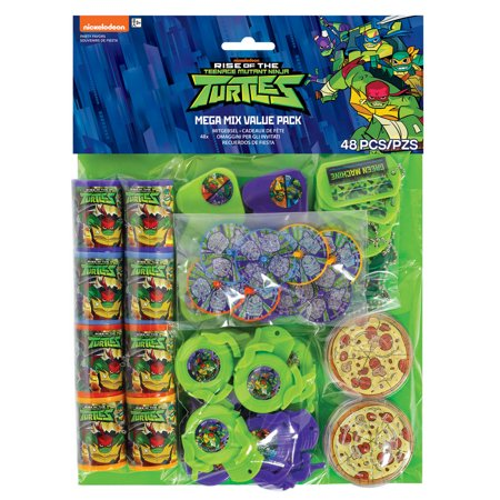 Rise Of The Teenage Mutant Ninja Turtles Party Favor Pack, 48pc](Girl Ninja Turtle Party)