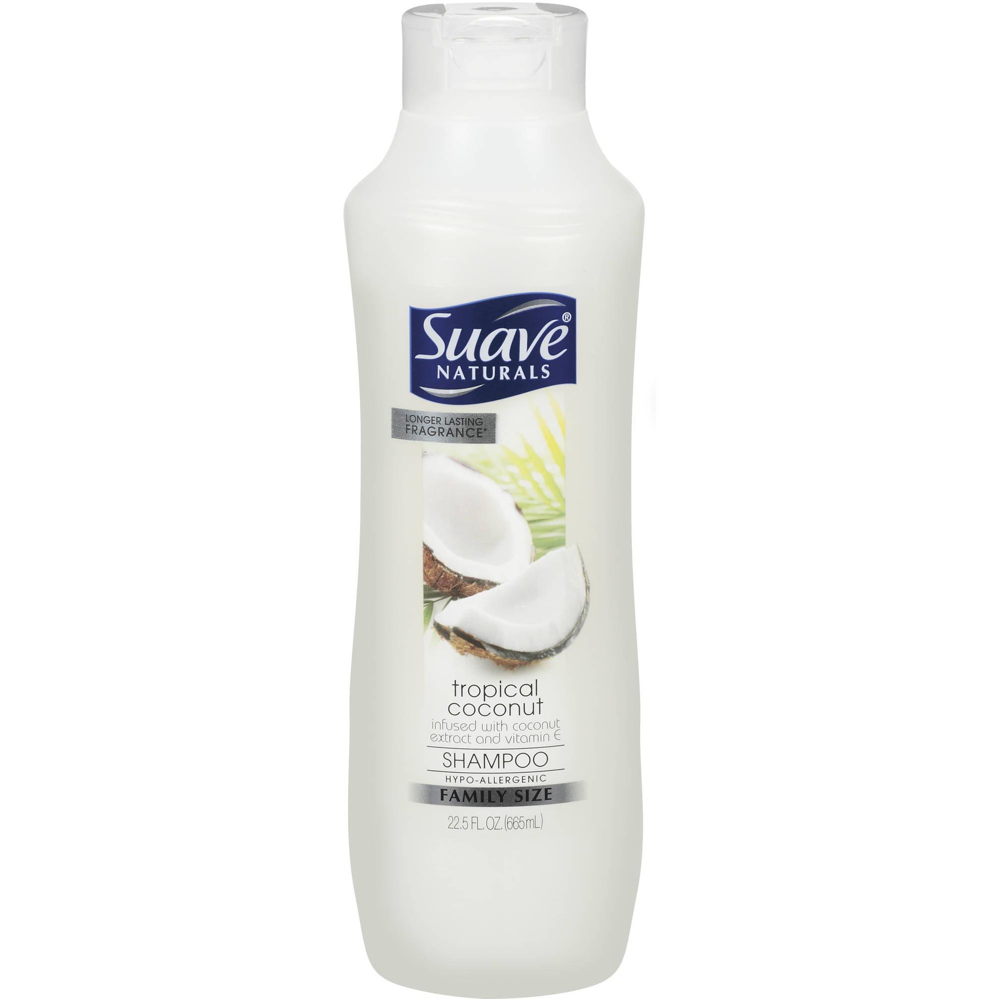 Suave Naturals Tropical Coconut w/Coconut Extract & Vitamin E Shampoo, 22.5 oz