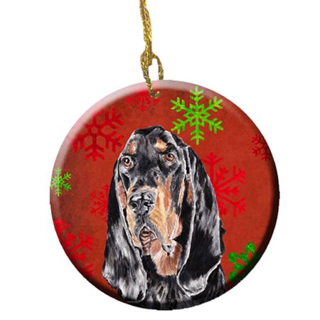 Irish Setter Red Snowflakes Holiday Ceramic Ornament, 2.81 (Irish Red And White Setter For Sale)