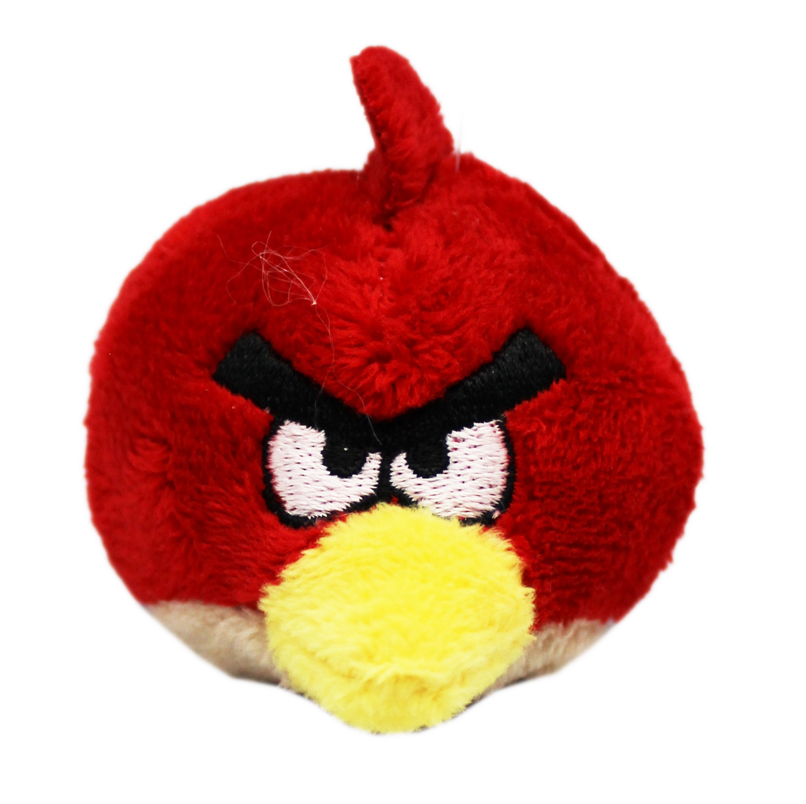 Angry Birds Red Bird Mini Round Plush Toy With Bottom Finger Pocket