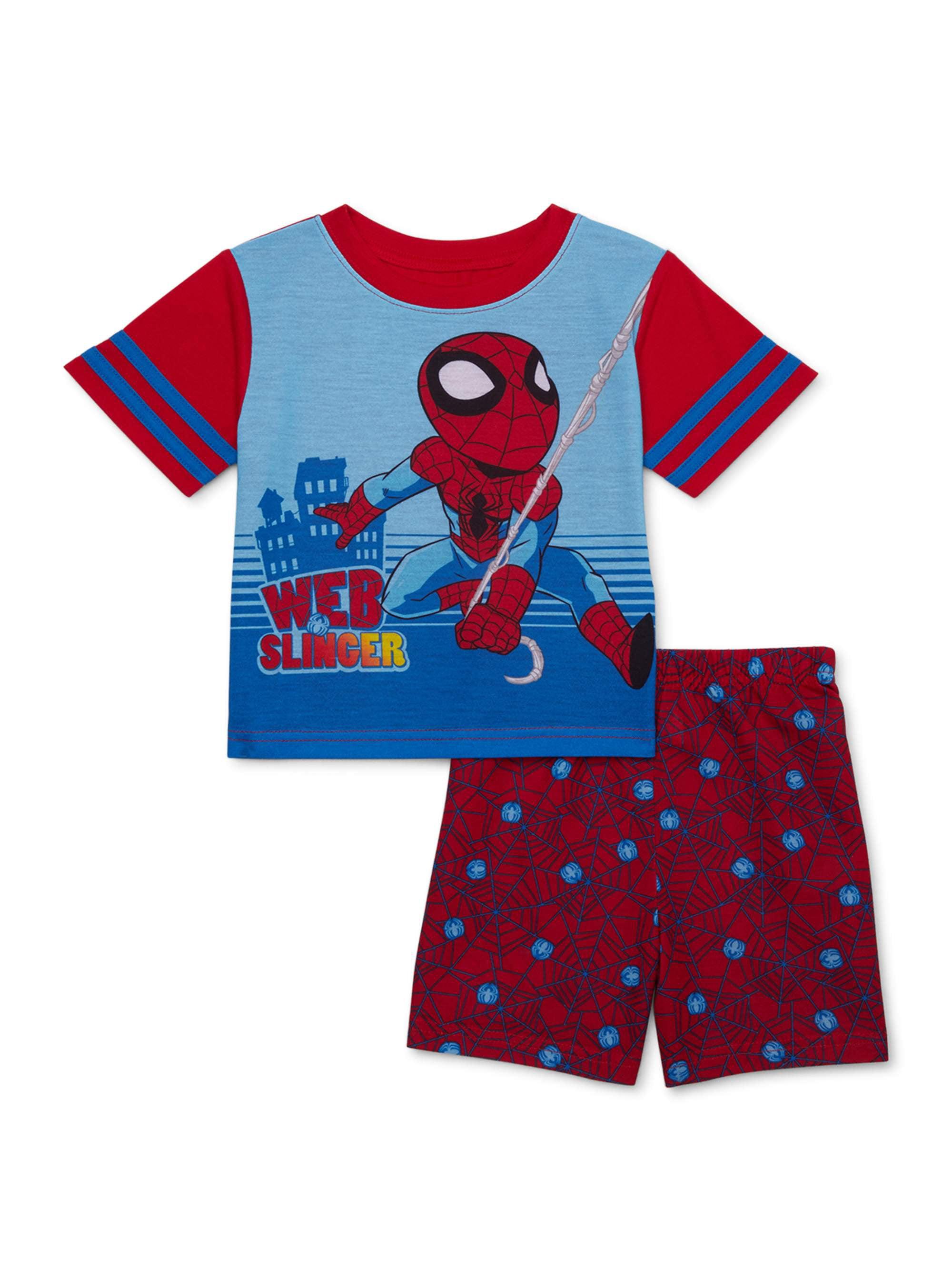 Spiderman Short Sleeve Shirt Boy Size 8 Small NWT