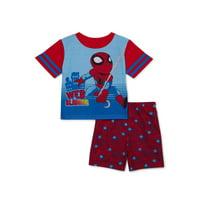 Marvel Superhero Adventures Toddler Boys Polyester Short Sleeve Pajamas, 2-Piece Set