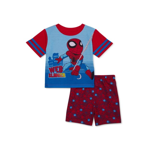Marvel Superhero Adventures Toddler Boys Polyester Short Sleeve Pajamas, 2-Piece Set