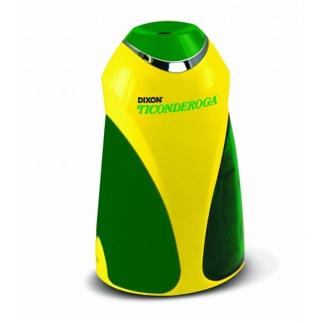 Dixon Ticonderoga 39571 Personal Electric Pencil Sharpener, Yellow & Green