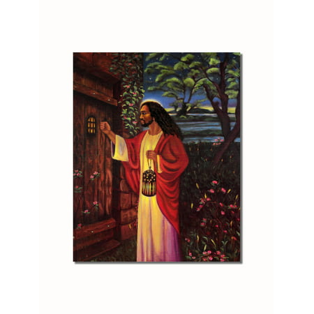 African American Black Jesus Knocking at Your Door Wall Picture 8x10 Art Print (Picture Jesus)