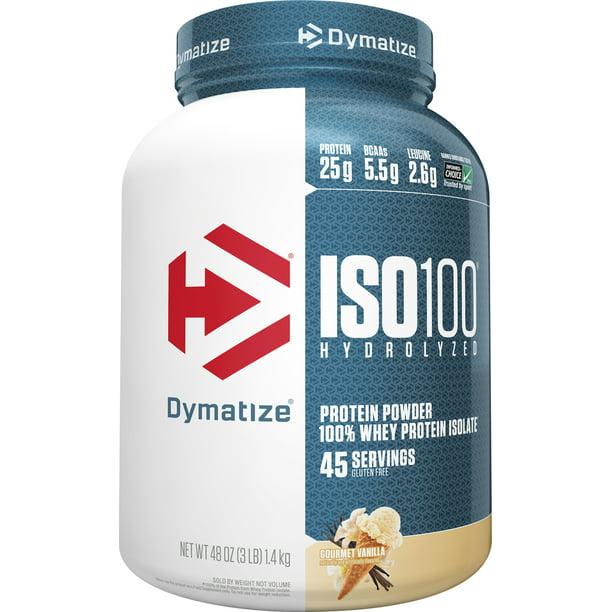 Dymatize Iso100 Hydrolyzed Whey Isolate Protein Powder Gourmet Vanilla 3 Lb Walmart Com Walmart Com