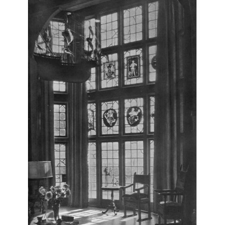 California Houses (Lving room bay window, house of William Clarkson Van Antwerp, Burlingame, California, 1922 Print Wall)