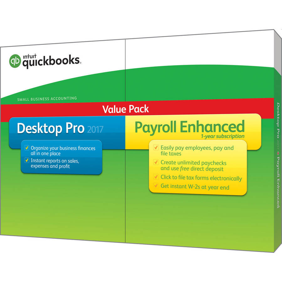 Intuit QuickBooks Pro with Enhanced Payroll 2017
