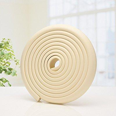 crib bumpers furniture corner edge protector guard baby safety protect strip 16.5ft (cream)