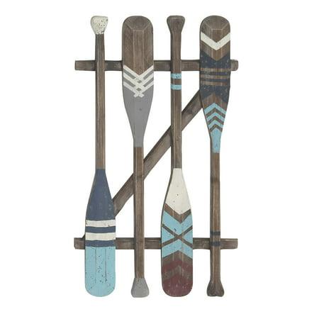Decmode Coastal Wooden Oars Wall Art, Brown ()