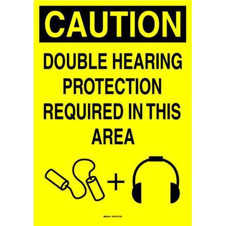 BRADY 105734 Ear Protection Sign