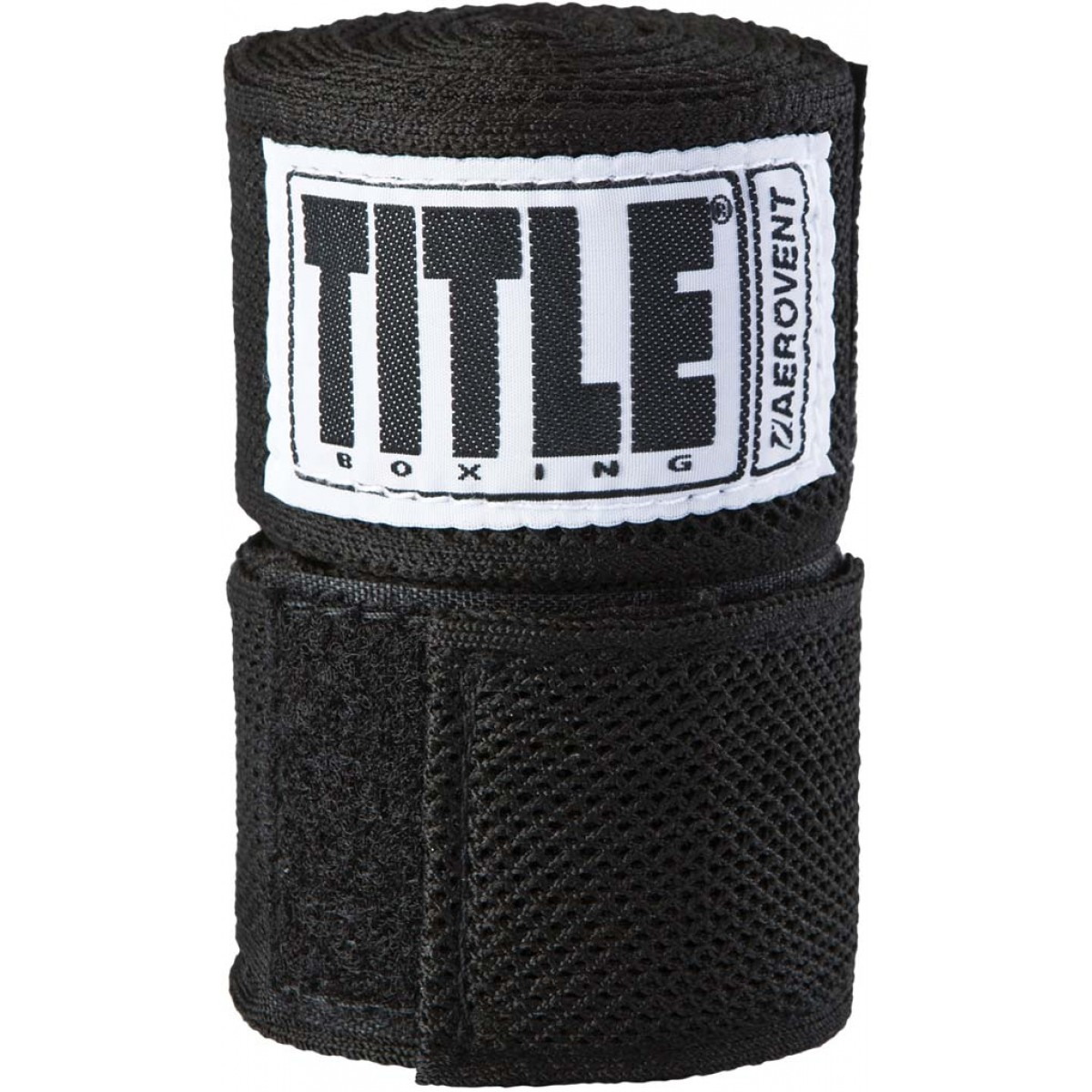 "Title Boxing Aerovent Xtreme Wicking Spandex Blend 120"" Handwraps - Black"