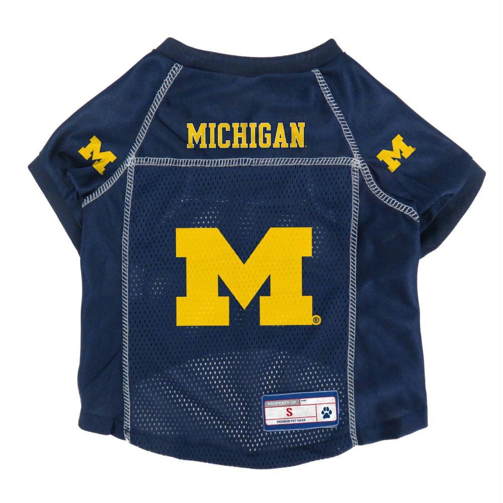 Michigan Wolverines Pet Mesh Jersey - Small