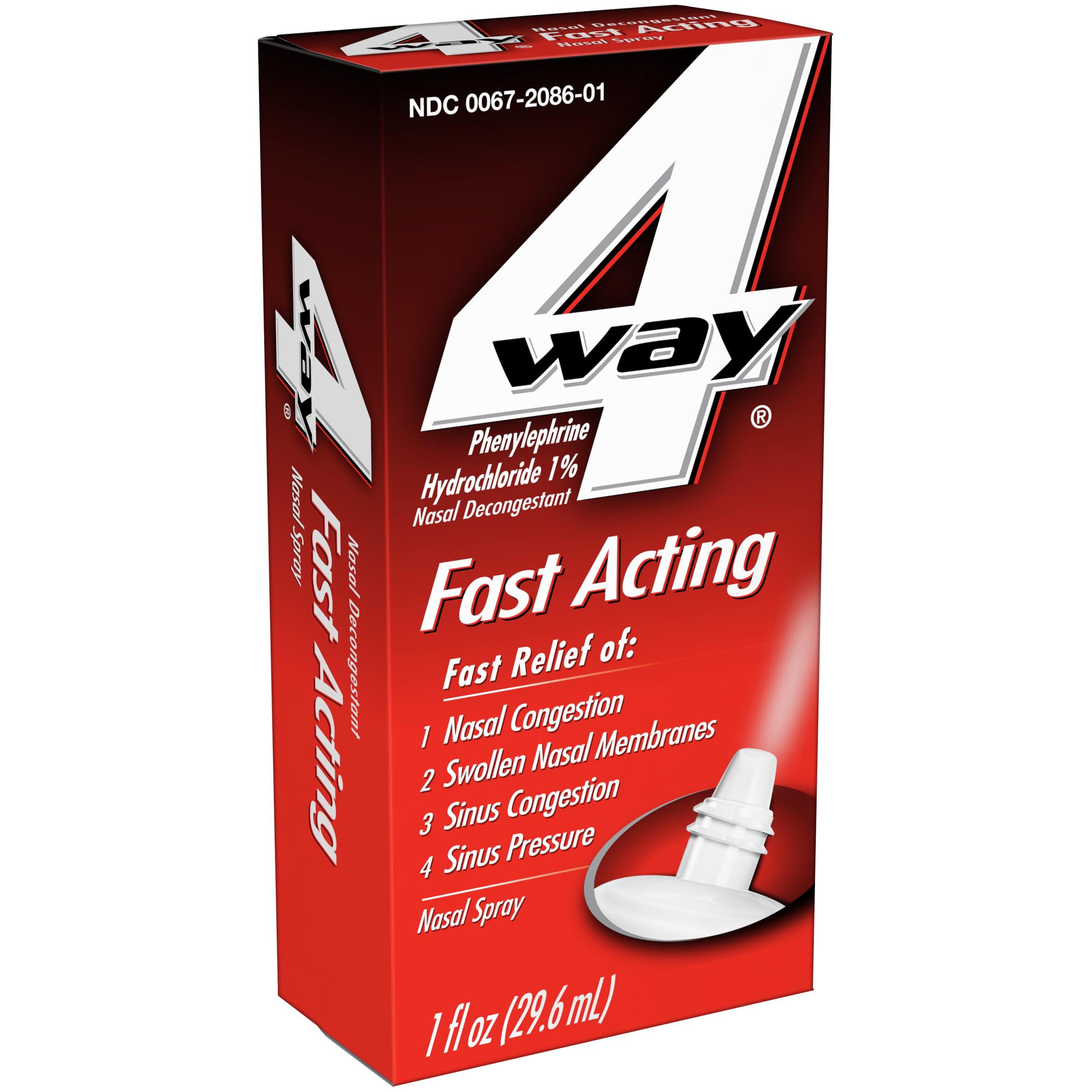 Image of 4 Way ® Fast Acting Nasal Decongestant Nasal Spray 1 fl. oz. Box