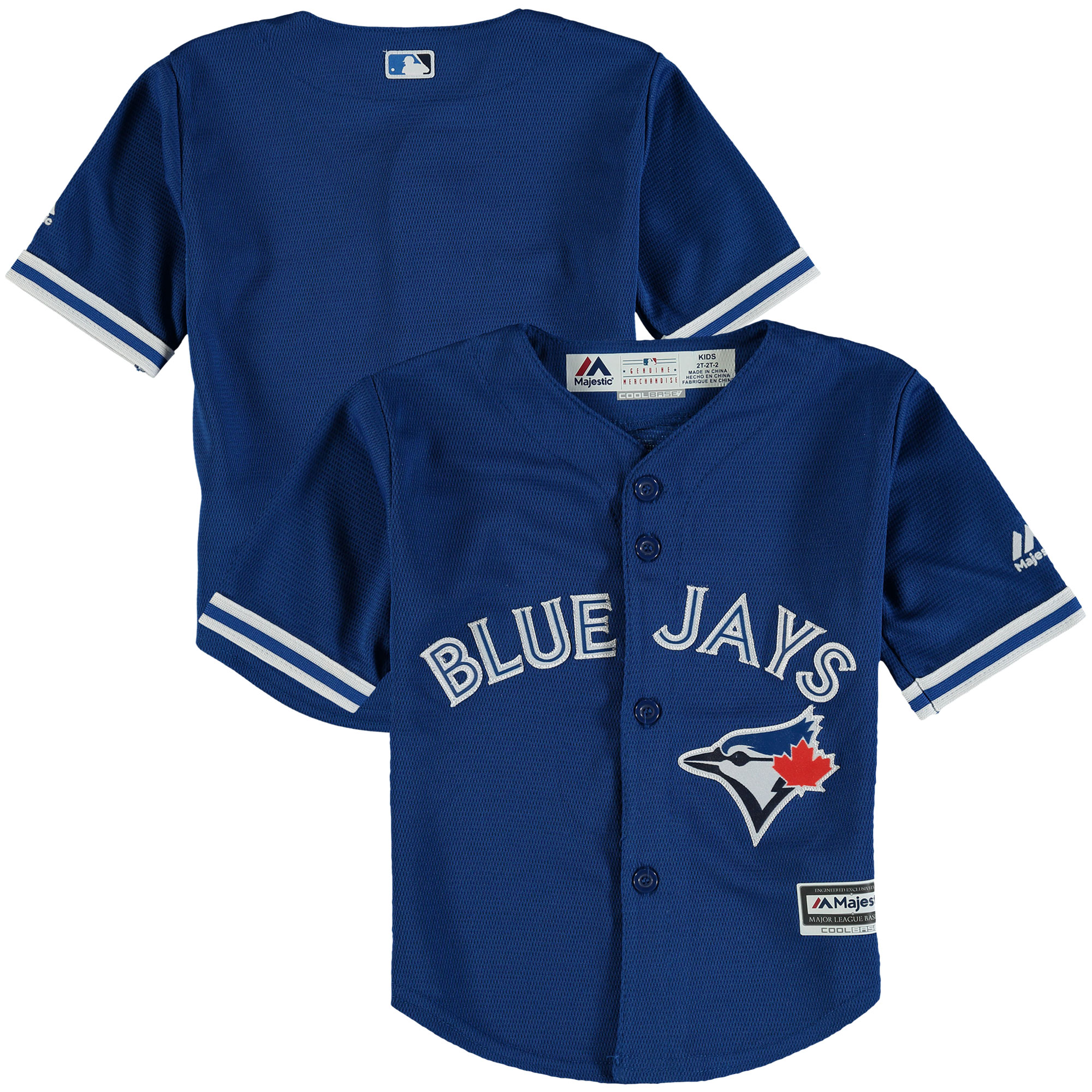 Toronto Blue Jays Majestic Toddler Alternate Official Cool Base Jersey - Royal