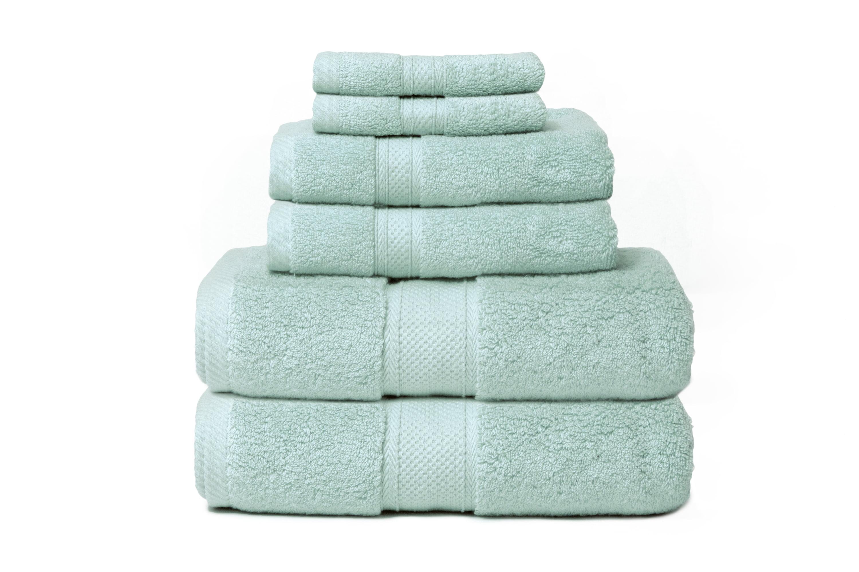 Zero Twist Hotel 6 Piece 100 Cotton Bath Towel Set Walmart Com Walmart Com