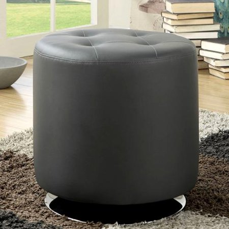 Leisure modern round grey tufted swivel ottoman for 30 inch round ottoman
