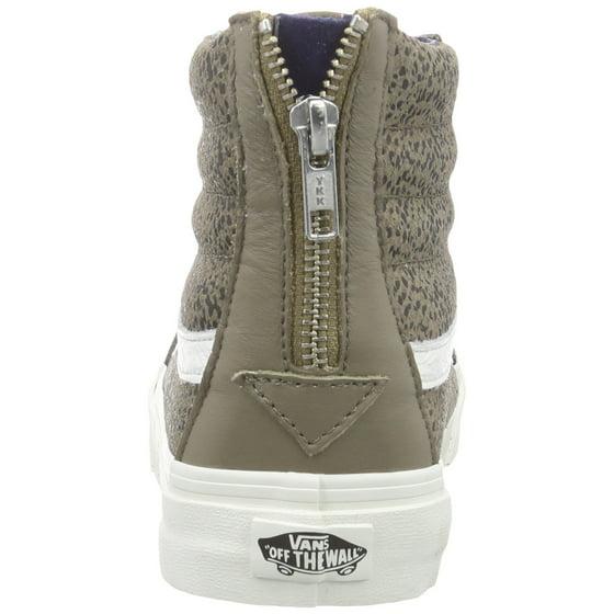 0f42a284edcd07 Vans - Vans Unisex Sk8-Hi Slim Zip Cheetah Suede Sneakers - Walmart.com