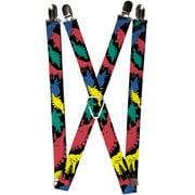 Buckle Down Kids' Elastic 1 Inch Wide Clip-End Dinosaur Suspenders