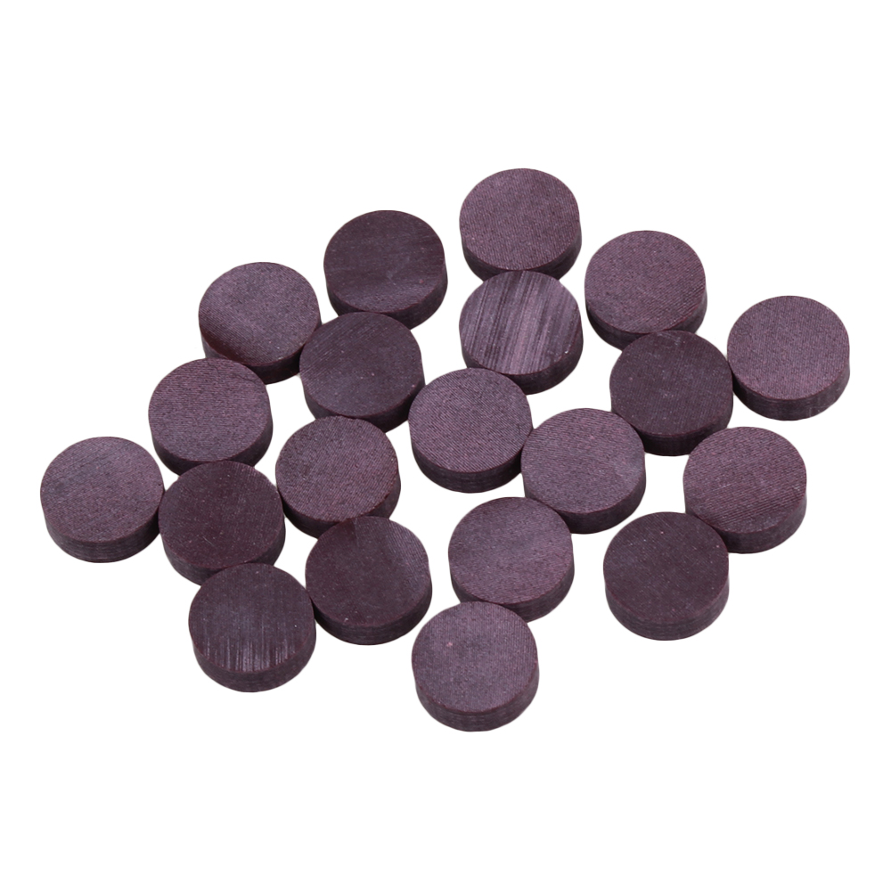 BQLZR 6mm Dia Purple Resin Round Guitar Fret Inlay Dots Marker for Guitar Fingerboard Pack of 20