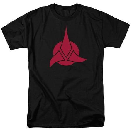 Star Trek/Klingon Logo S/S Adult 18/1 Black Cbs548