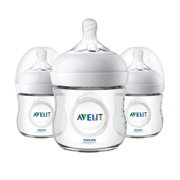 Philips Avent Natural Baby Bottle, Clear, 4oz, 3pk, SCF010/37
