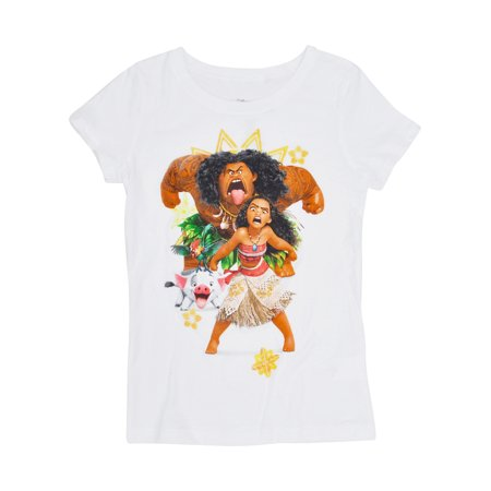 58d86217d Girls Moana Maui T-Shirt - Short Sleeve White - image 1 of 1 ...