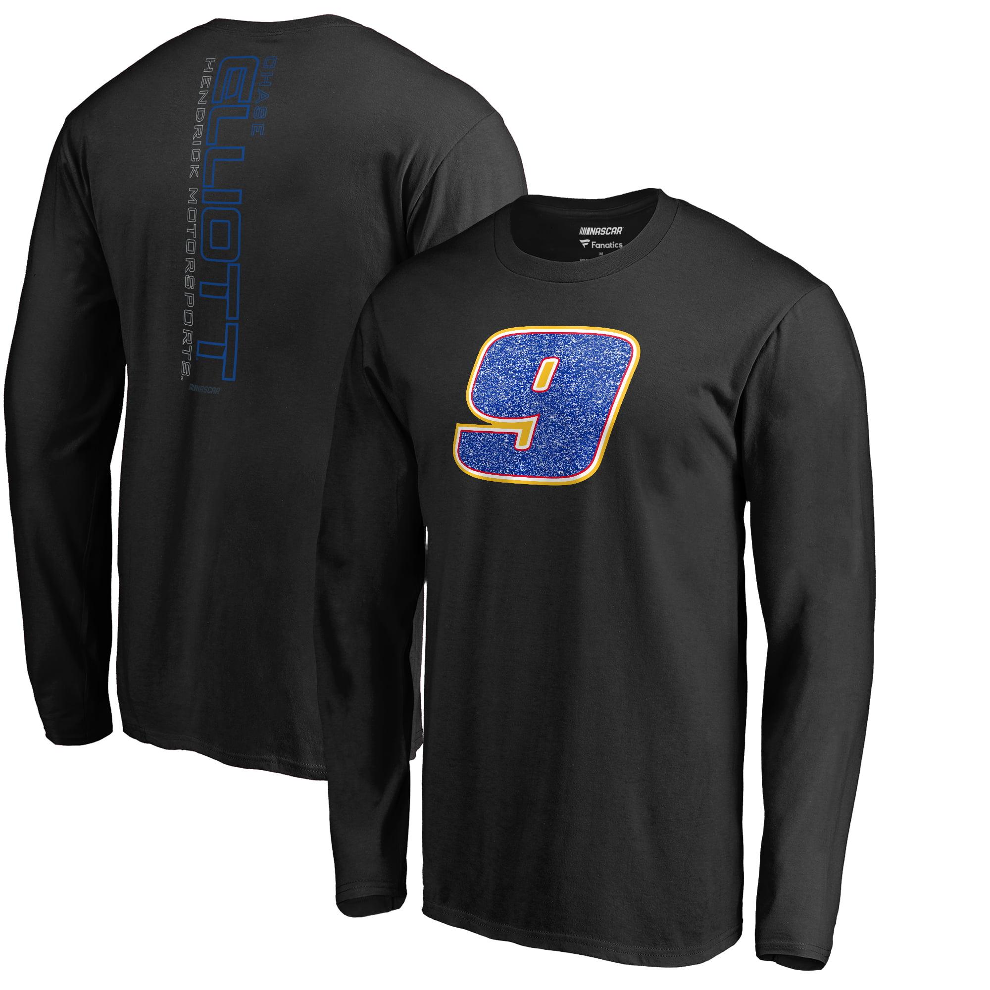 Chase Elliott Fanatics Branded Static Long Sleeve T-Shirt - Black