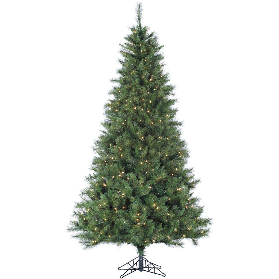 Fraser Hill Farm Pre-Lit 12' Canyon Pine Artificial Christmas Tree, Clear LED Lighting