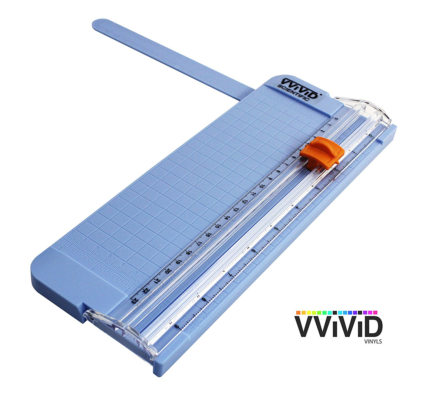 "Portable Sliding Blade Style 9"" Ruled Gridded Paper Trimmer VViViD by VViViD"