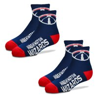 Washington Wizards For Bare Feet Youth Two-Pack Quarter-Length Socks - No Size