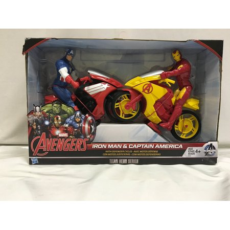 Avengers Iron Man   Captain America With Defenders Cycles