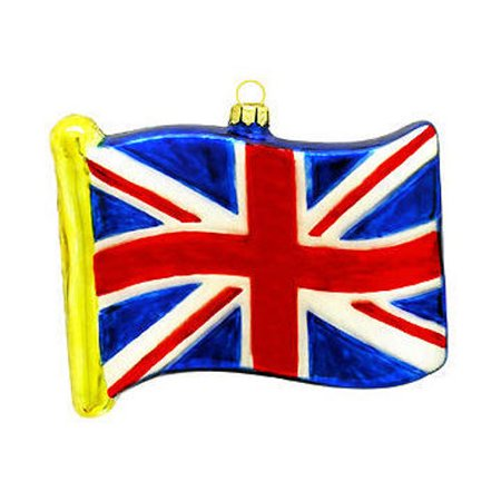 Great Britian Flag Glass Ornament British England Christmas Tree Hanging - New England Patriots Ornaments