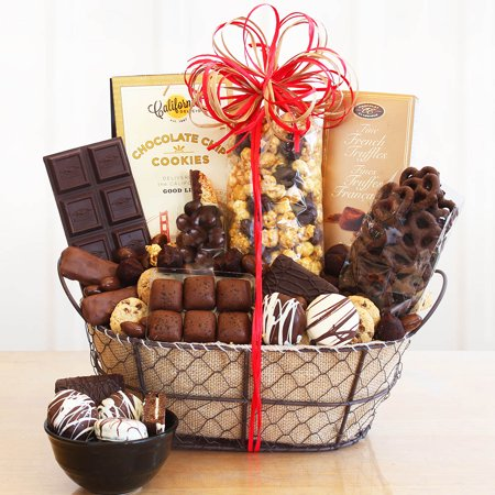 Chocolate Delights Basket (Birthday Chocolate Fruit Basket)