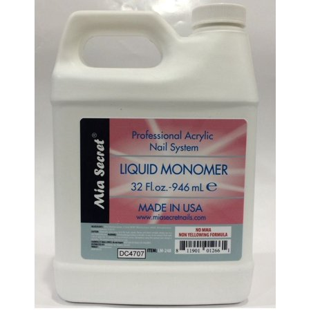 LWS LA Wholesale Store  Liquid Monomer Mia Secret - Professional Acrylic Nail System - MADE IN USA! (32 oz Liquid / 946 ml)